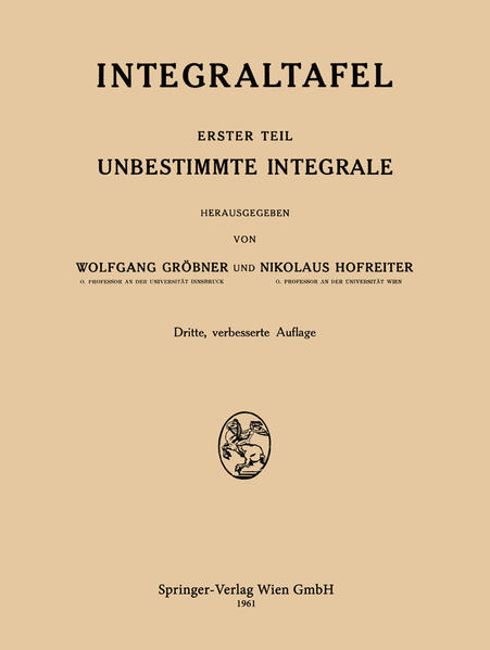 Integraltafel - Coverbild