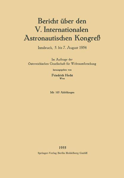 Bericht über den V. Internationalen Astronautischen Kongreß - Coverbild