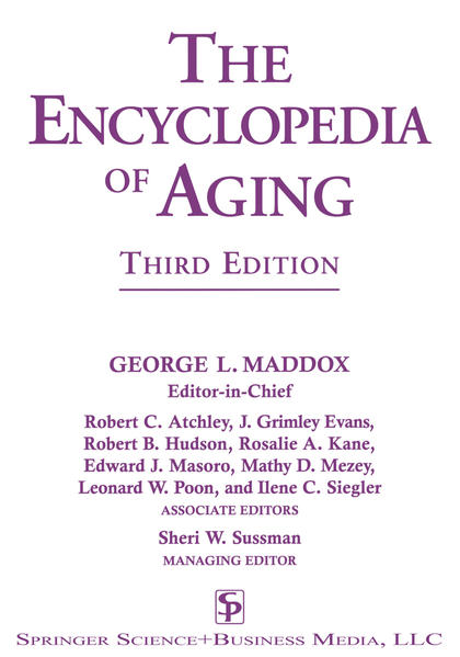 The Encyclopedia of Aging - Coverbild
