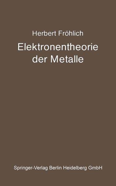 Elektronentheorie der Metalle - Coverbild