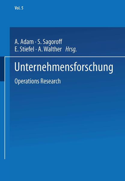 Unternehmensforschung - Coverbild