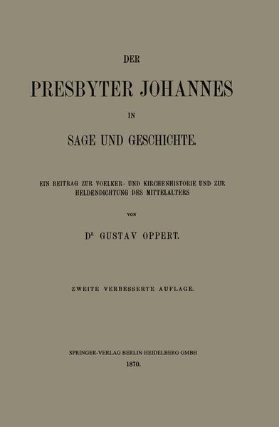 Der Presbyter Johannes in Sage und Geschichte - Coverbild