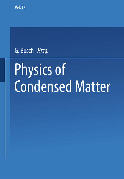 Physics of Condensed Matter - Coverbild