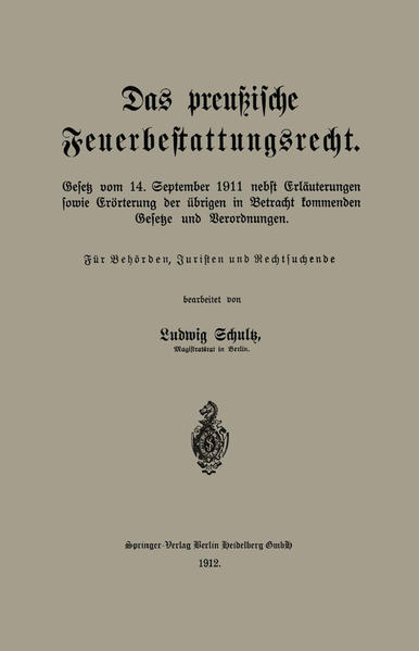 Das preußische Feuerbestattungsrecht - Coverbild