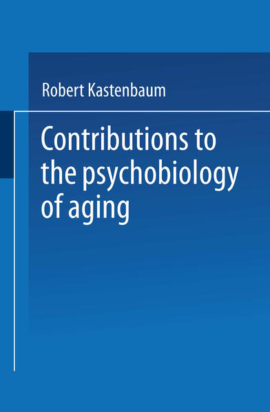 Contributions to the Psychobiology of Aging - Coverbild