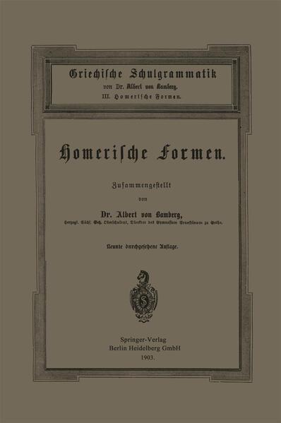 Griechische Schulgrammatik - Coverbild