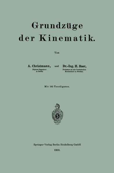 Grundzüge der Kinematik - Coverbild