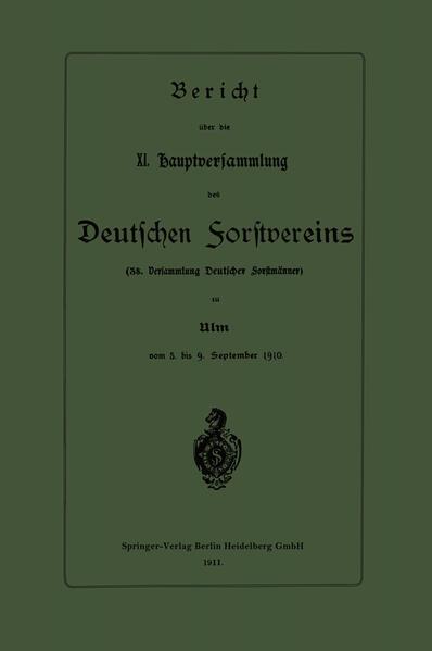 Bericht über die XI. Hauptversammlung des Deutschen Forstvereins - Coverbild