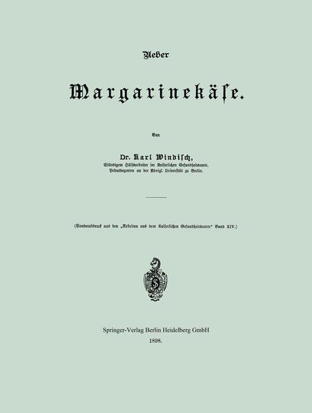 Ueber Margarinekäse - Coverbild