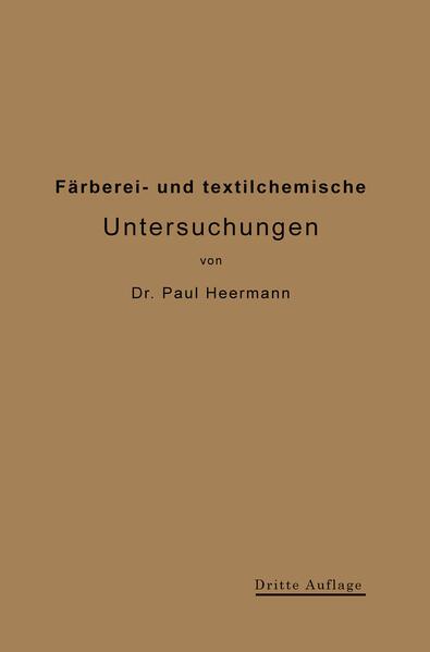 Färberei- und textilchemische Untersuchungen - Coverbild