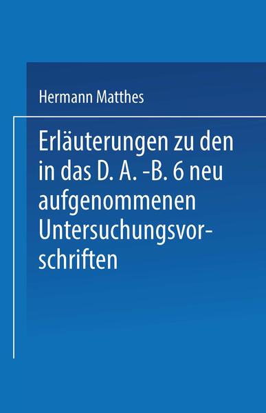 Erläuterungen zu den in das D.A.-B.6 neu aufgenommenen Untersuchungsvorschriften - Coverbild