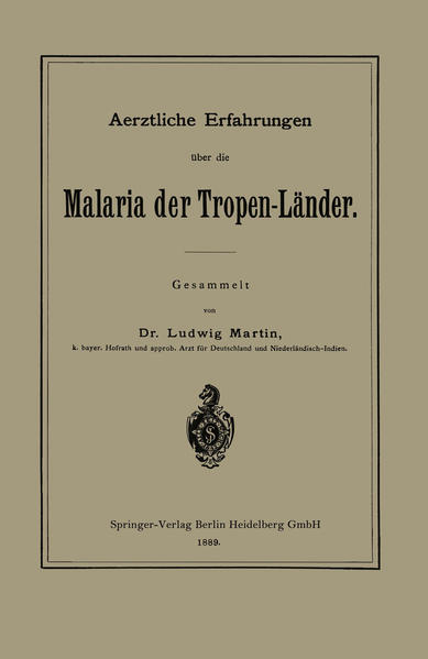 Aerztliche Erfahrungen über die Malaria der Tropen-Länder - Coverbild
