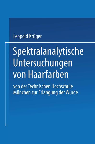 Spektralanalytische Untersuchungen von Haarfarben - Coverbild