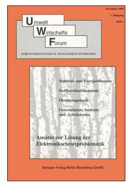 Umwelt Wirtschafts Forum - Coverbild