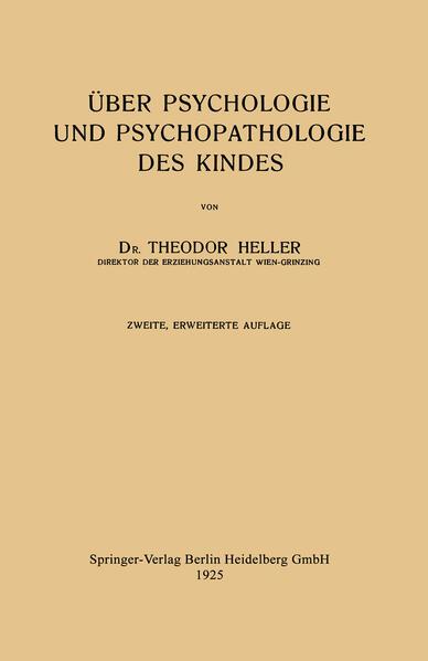 Über Psychologie und Psychopathologie des Kindes - Coverbild