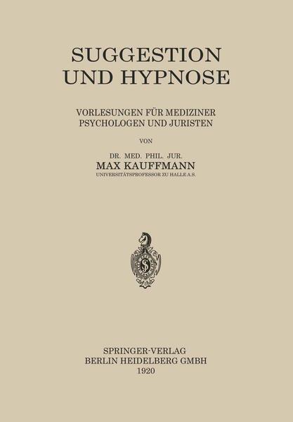 Suggestion und Hypnose - Coverbild