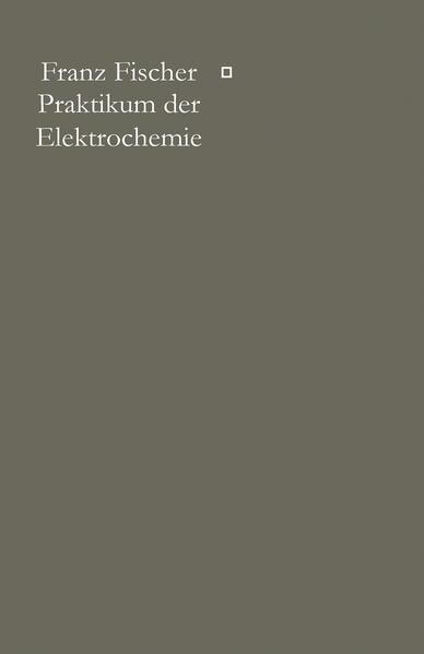 Praktikum der Elektrochemie - Coverbild