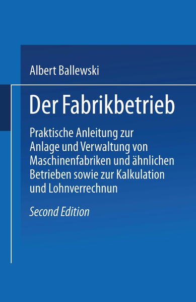 Der Fabrikbetrieb - Coverbild