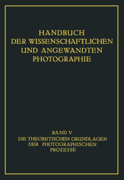 Die Theoretischen Grundlagen der Photographischen Prozesse - Coverbild