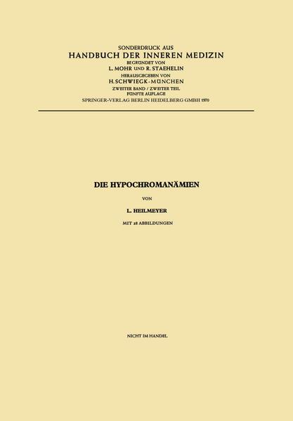 Die Hypochromanämien - Coverbild