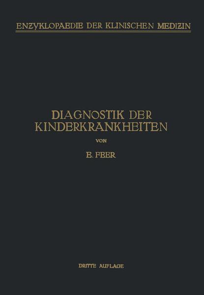 Diagnostik der Kinderkrankheiten - Coverbild