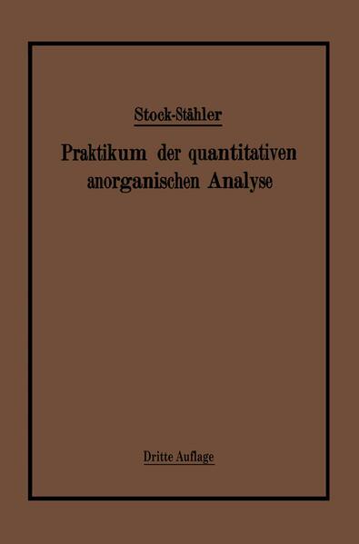 Praktikum der quantitativen anorganischen Analyse - Coverbild
