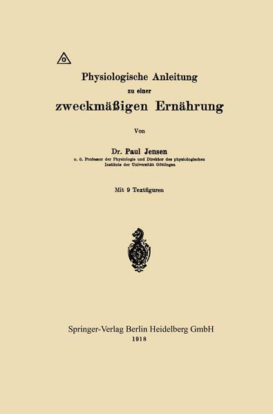 Physiologische Anleitung zu einer zweckmäßigen Ernährung - Coverbild