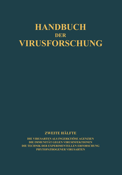 Handbuch der Virusforschung - Coverbild