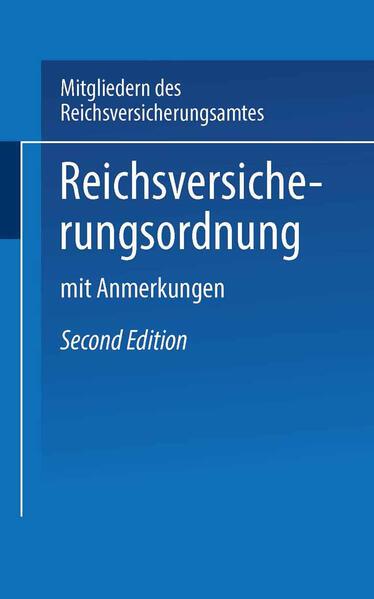 Reichs-Versicherungsordnung - Coverbild