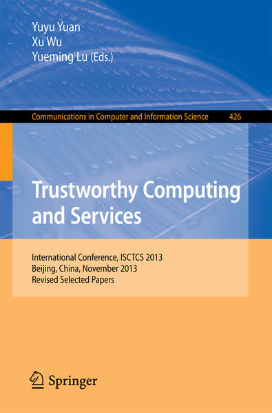Trustworthy Computing and Services - Coverbild