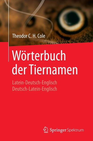 Wörterbuch der Tiernamen - Coverbild