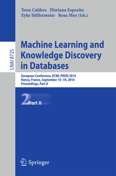 Machine Learning and Knowledge Discovery in Databases - Coverbild