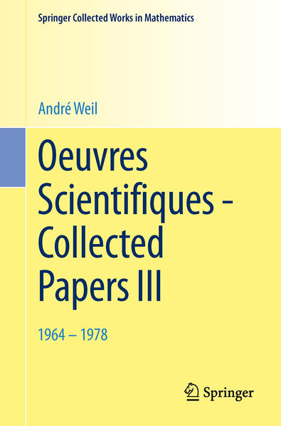 Oeuvres Scientifiques - Collected Papers III - Coverbild