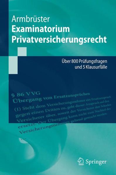 Examinatorium Privatversicherungsrecht - Coverbild