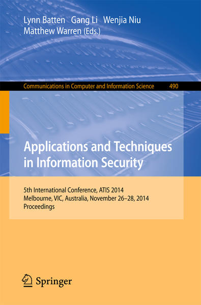 Applications and Techniques in Information Security - Coverbild