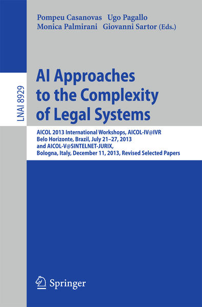 AI Approaches to the Complexity of Legal Systems - Coverbild