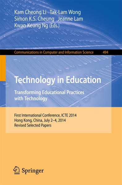 Technology in Education. Transforming Educational Practices with Technology - Coverbild