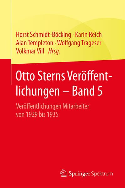 Otto Sterns Veröffentlichungen – Band 5 - Coverbild
