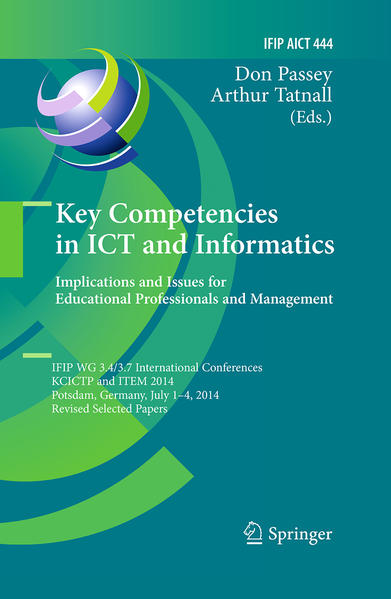 Key Competencies in ICT and Informatics: Implications and Issues for Educational Professionals and Management - Coverbild