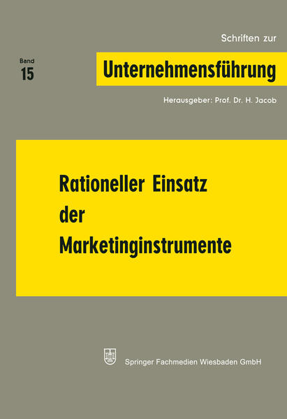 Rationeller Einsatz der Marketinginstrumente - Coverbild