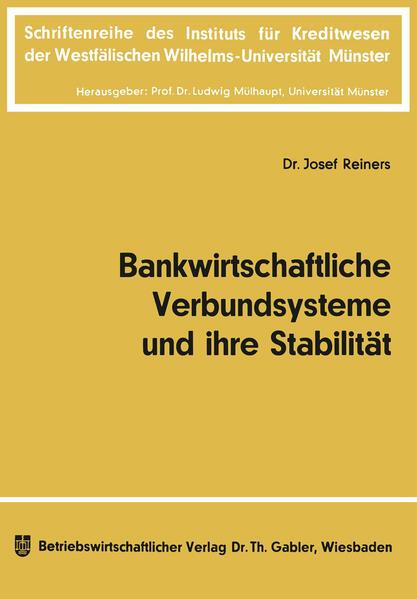 Bankwirtschaftliche Verbundsysteme und ihre Stabilität - Coverbild