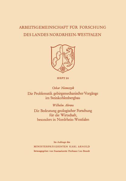 Die Problematik gebirgsmechanischer Vorgänge im Steinkohlenbergbau - Coverbild