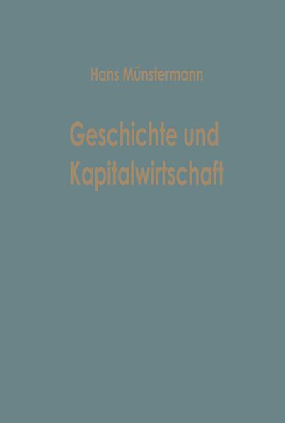 Geschichte und Kapitalwirtschaft - Coverbild