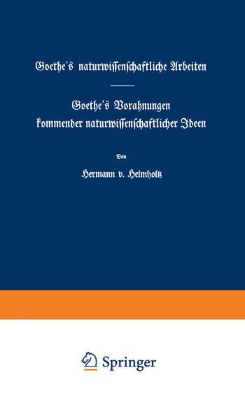 Goethe's naturwissenschaftliche Arbeiten - Coverbild
