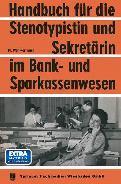 Handbuch für die Stenotypistin und Sekretärin im Bank- und Sparkassenwesen - Coverbild
