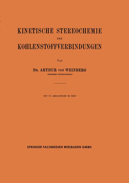 Kinetische Stereochemie der Kohlenstoffverbindungen - Coverbild