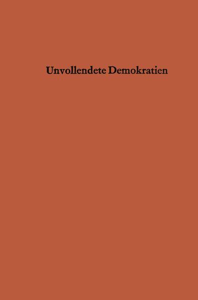 Unvollendete Demokratien - Coverbild