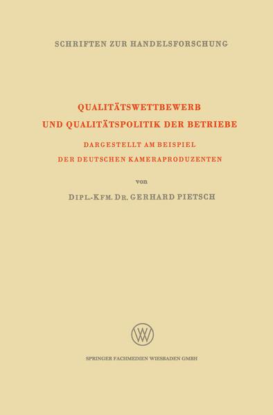 Qualitätswettbewerb und Qualitätspolitik der Betriebe - Coverbild