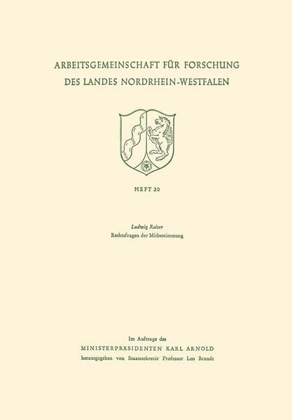Rechtsfragen der Mitbestimmung - Coverbild