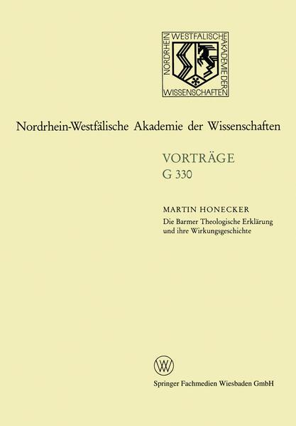 Die Barmer Theologische Erklärung und ihre Wirkungsgeschichte - Coverbild